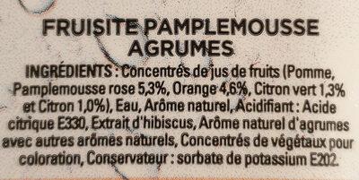 Concentré Pamplemousse Agrumes - Ingrédients - fr