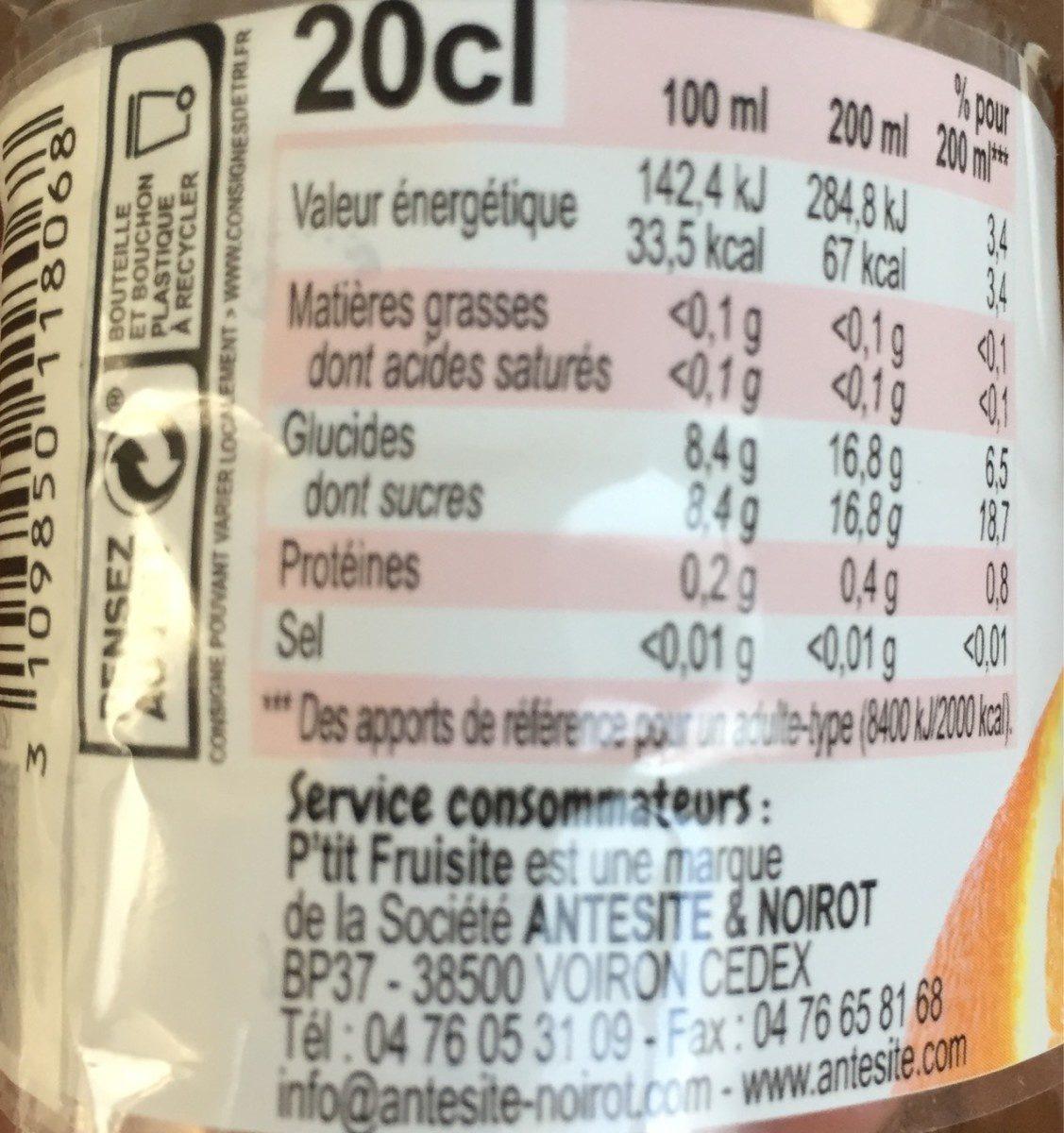 P'tit Fruitiste Bio multi fruits - Informations nutritionnelles - fr