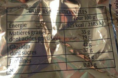 Papillotes Noir Chic - Informations nutritionnelles