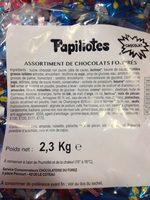 Papillotes chocolat - Ingredients - fr