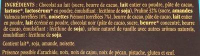 Les œufs grands pralinés noisettes-amandes - Ingrédients