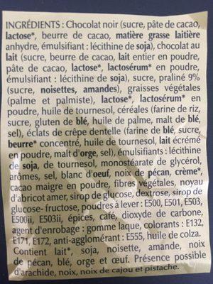Papillotes pralinées - Ingrediënten