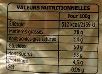 Papillotes Pralinés - Assortiment Lait et Noir - Nutrition facts