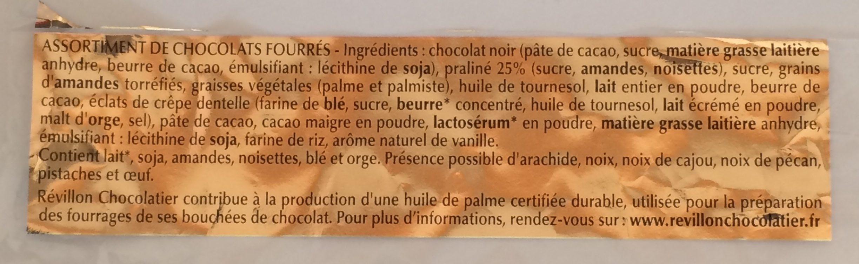 Malakoffs noir - Ingrédients - fr