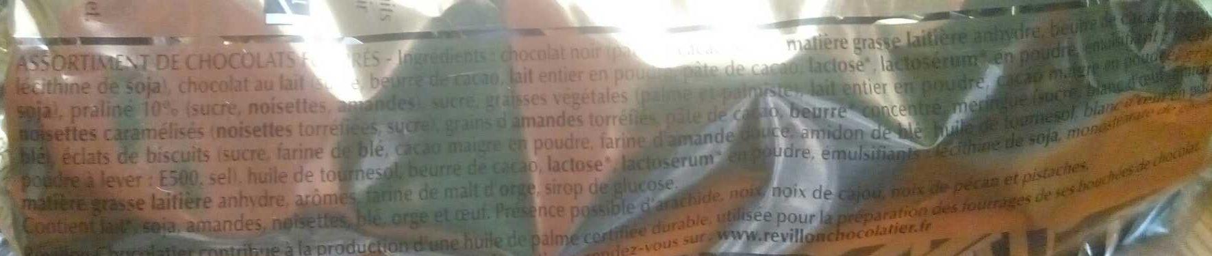 Duo d'Éclats Noir et Lait - Ingrédients - fr