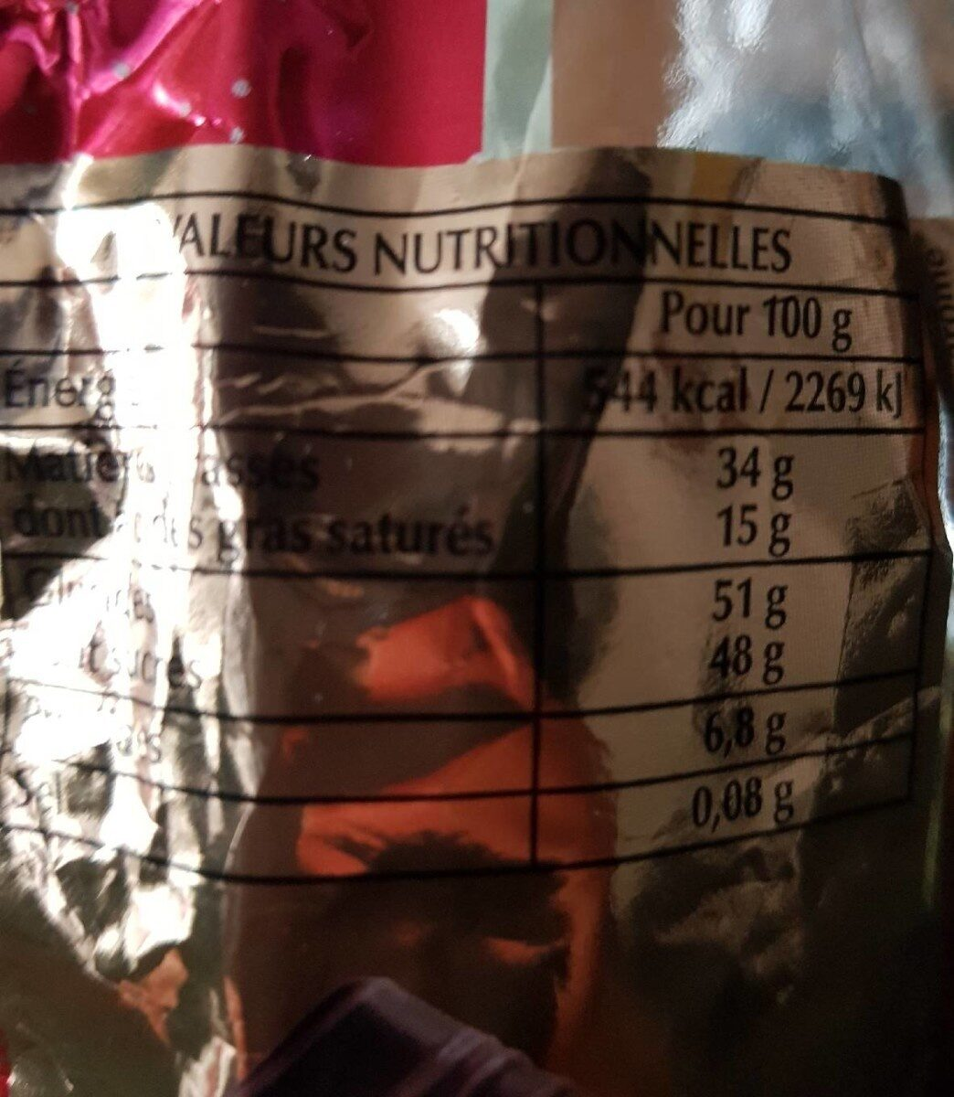 Papillotes revillon accord majeur - Informations nutritionnelles
