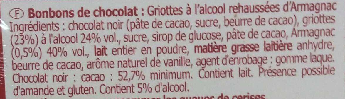 Les Guinettes - Bonbons de chocolat - Ingredienti - fr