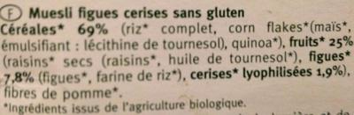 Muesli Figues Cerises - Ingrediënten - fr