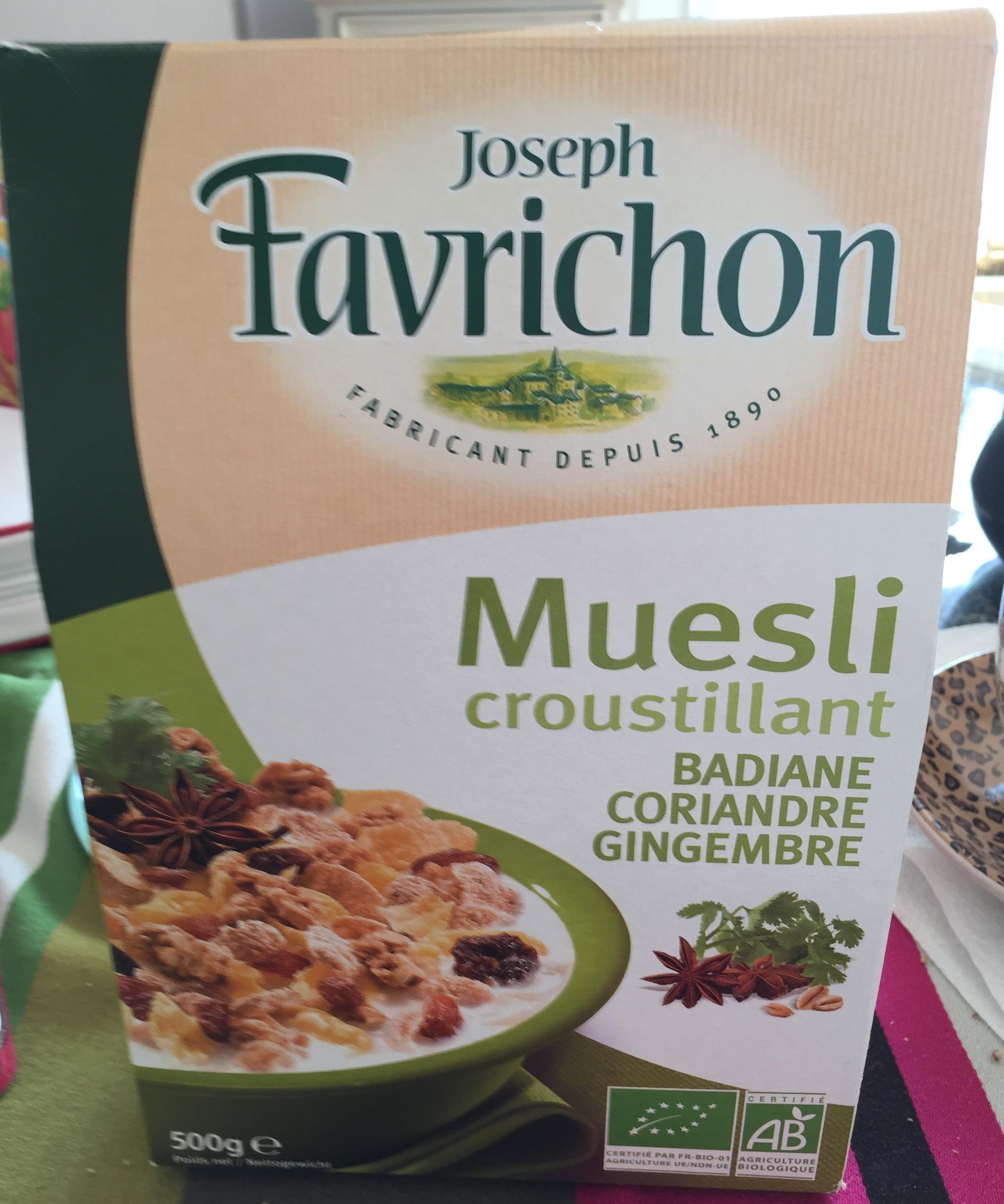 Muesli croustillant badiane coriandre gingembre - Product