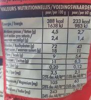 Crosti Petales Choc' - Voedigswaarden