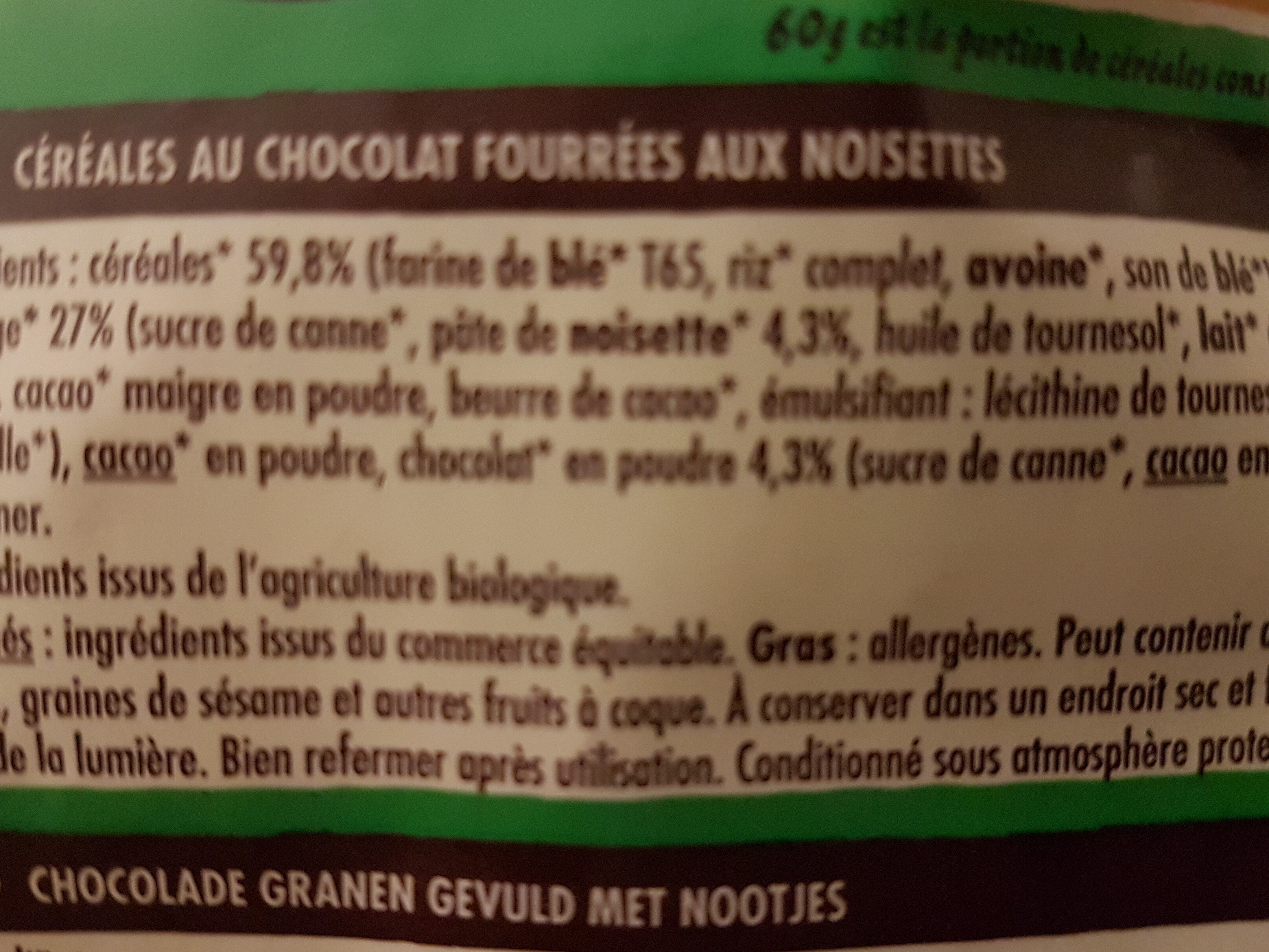 Crosti cœur fondant au chocolat noisette - Ingredienti - fr
