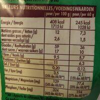 Crosti cœur fondant au chocolat noisette - Valori nutrizionali - fr