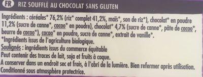 Crosti Riz soufflé choco - Ingrediënten