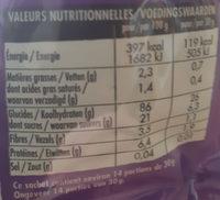 Crosti Riz soufflé choco - Informations nutritionnelles