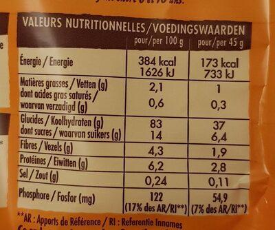 Crosti - Voedingswaarden - fr
