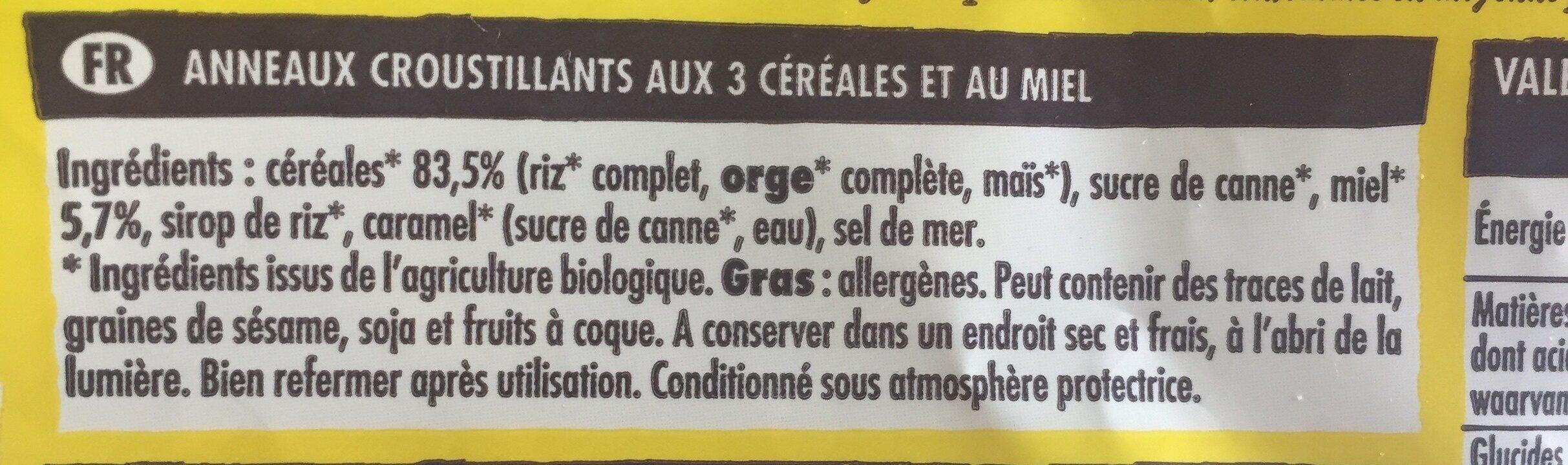 Crosti Oz Miel - Ingrédients