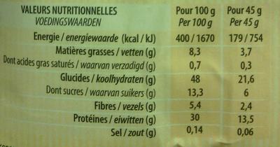 Joseph Favrichon Muesli Protéiné soja & fruits - Voedigswaarden