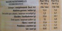 Muesli 4 céréales et 8 fruits - Informations nutritionnelles - fr