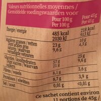 Muesli croustillant - duo de chocolats - Valori nutrizionali - fr