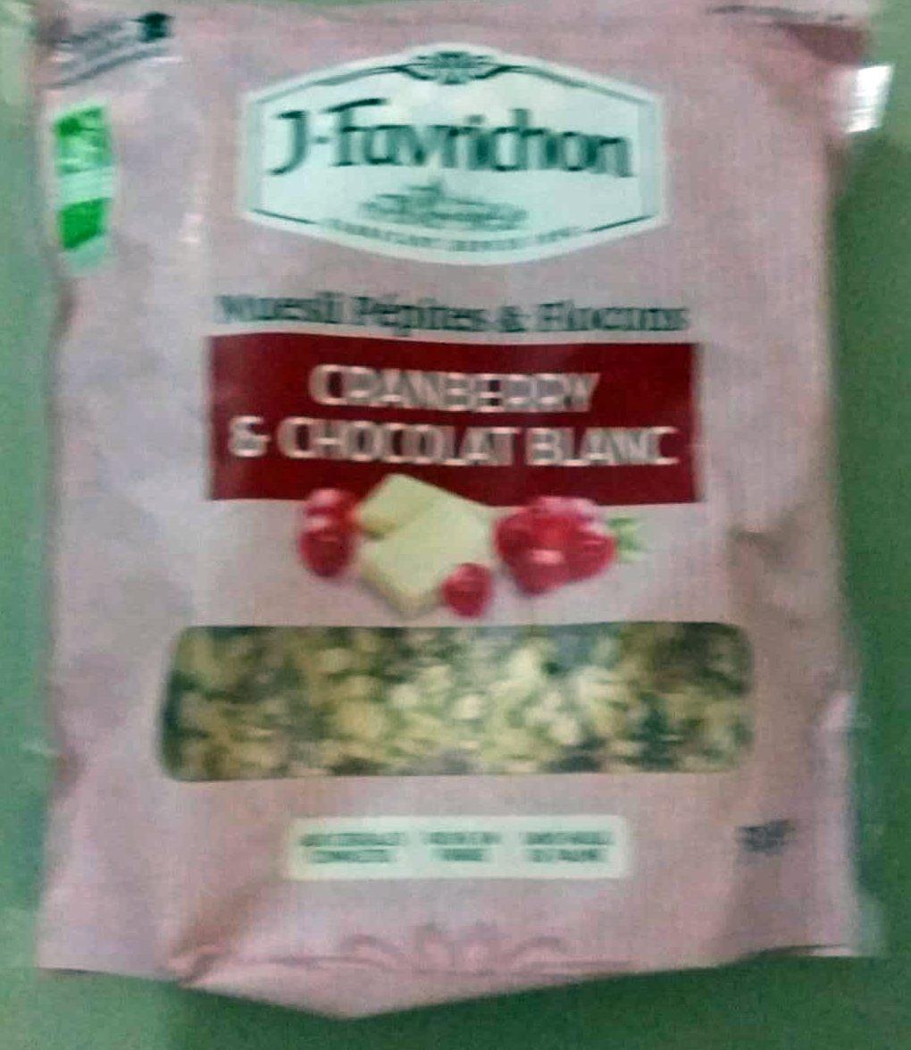 Muesli Pépites et Flocons Cranberry & Chocolat Blanc - Produit - fr