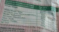 Muesli Pépites et Flocons Cranberry & Chocolat Blanc - Informations nutritionnelles - fr