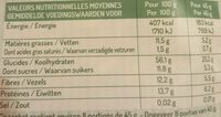 Muesli Bien-être Lin & Fibres - Nutrition facts