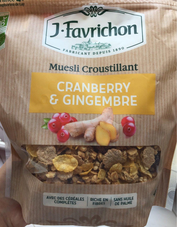 Muesli cranberry & gingembre - Product - fr