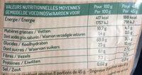 Muesli cranberry & gingembre - Voedingswaarden - fr
