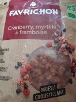 Cranberry myrtille et framboise - Producto - fr