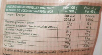 Muesli croustillant noix de coco - Voedingswaarden