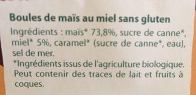 Crosti Boules Miel - Ingredienti