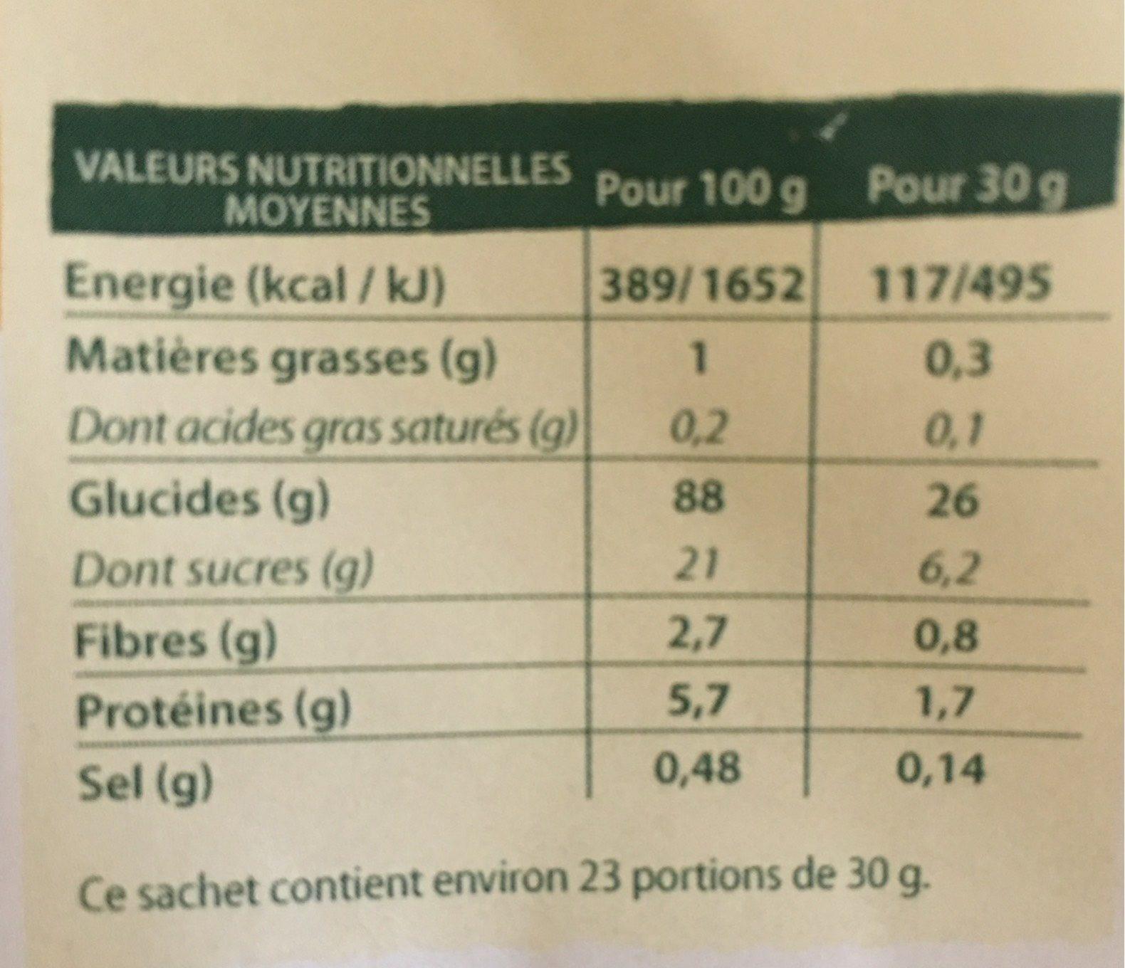 Crosti Boules Miel - Valori nutrizionali - fr