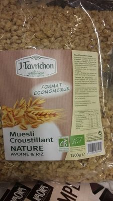 Muesli Croustillant Nature avoine et riz - Produit - fr