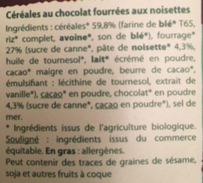 CROSTI COEUR FONDANT CHOCO NOISETTES - Ingrediënten