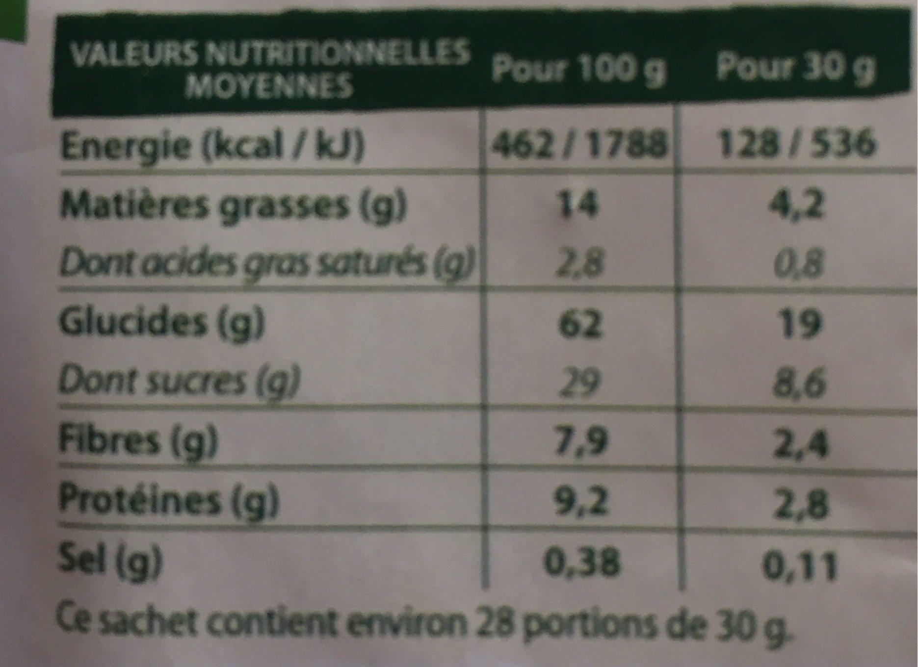 CROSTI COEUR FONDANT CHOCO NOISETTES - Voedingswaarden