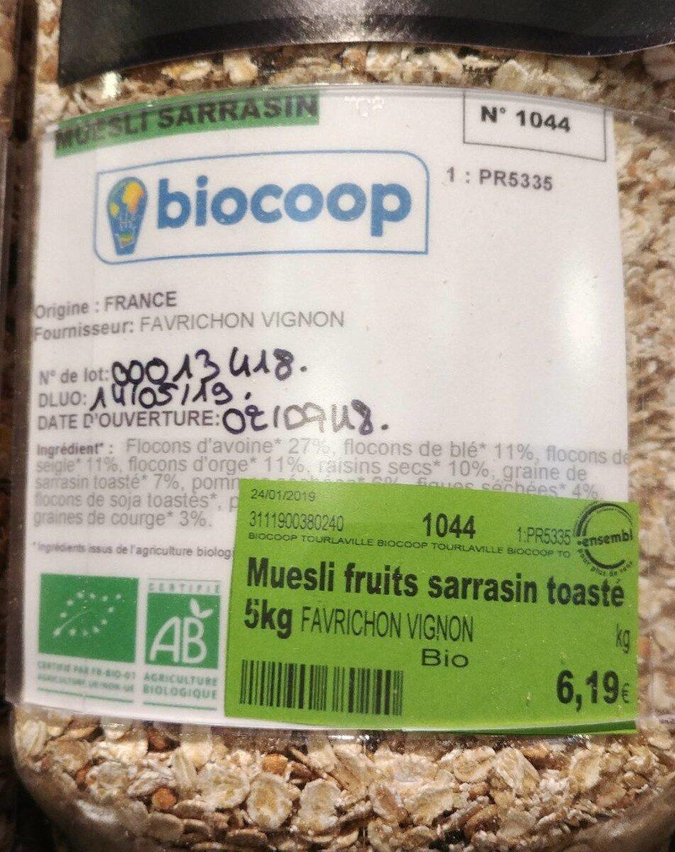 Muesli fruits sarrasin toaste - Produit - fr