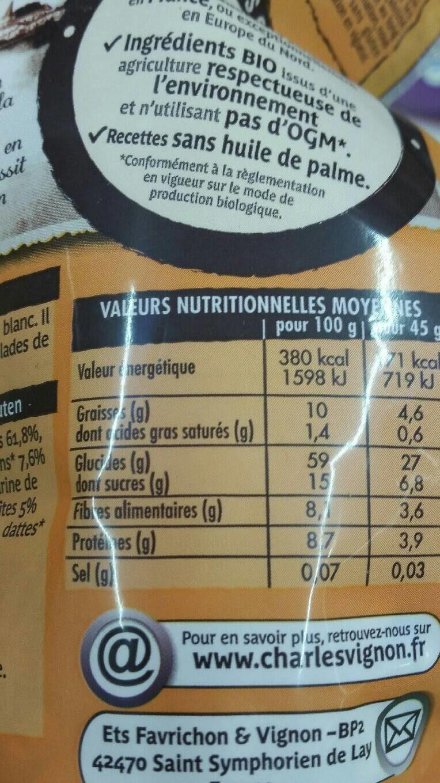 Muesli bio - Voedingswaarden - fr