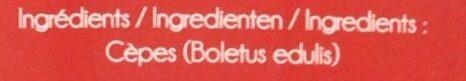Cèpes extra séchés - Ingrediënten - fr
