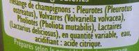 Sélection de Champignons - Ingrédients - fr