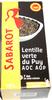 Lentille verte du Puy - AOC - AOP - 500 g - Sabarot - Product