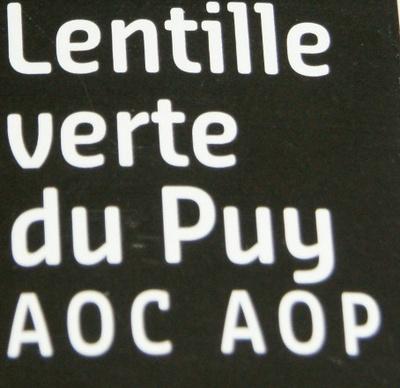 Lentille verte du Puy - AOC - AOP - 500 g - Sabarot - Ingrediënten - fr