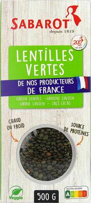 Lentilles vertes - Produit - fr