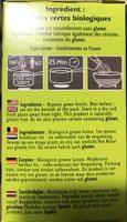 Lentilles Vertes Bio 500g. - Ingrediënten - fr