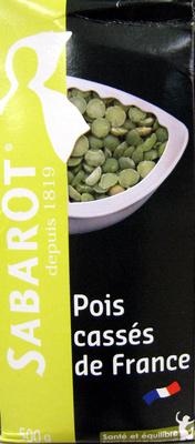 Pois cassés de France Sabarot - Produit