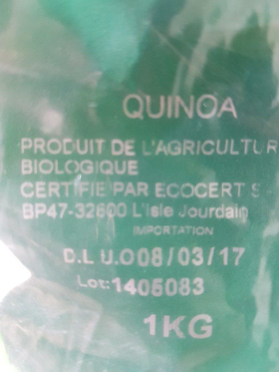 Quinoa Blanc Bio - 1KG - Ingredienti - fr