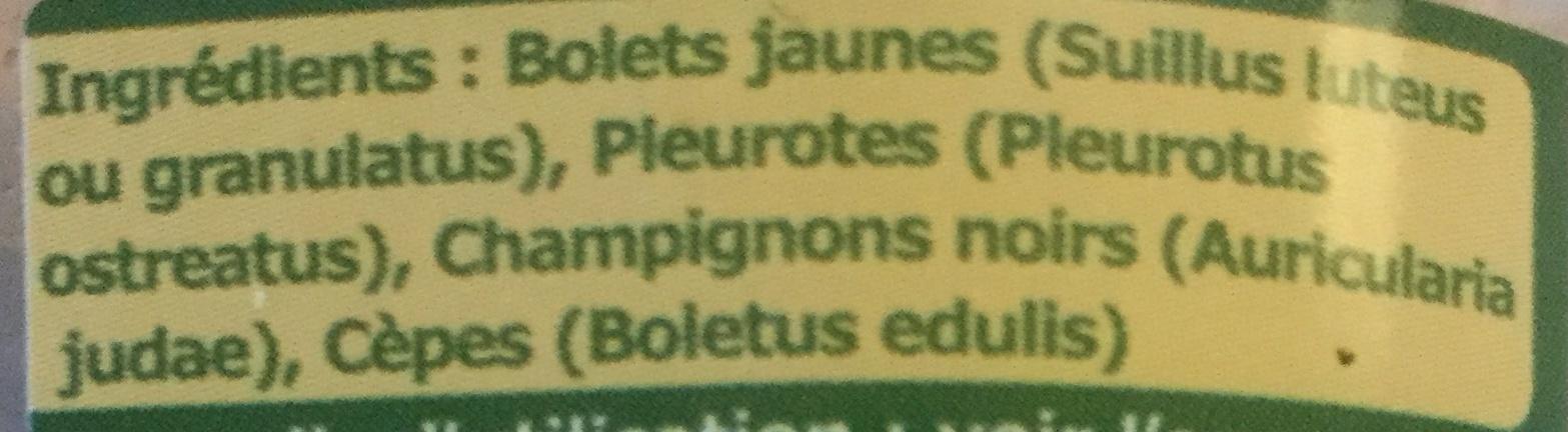Mélange forestier - Ingrédients