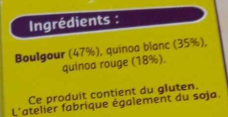 Quinoa et Boulgour - Ingrédients