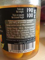 Gouttes de poivrons jaunes - Voedigswaarden