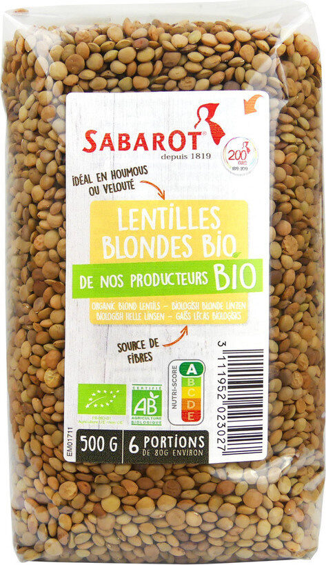 Lentilles blondes - Product - fr