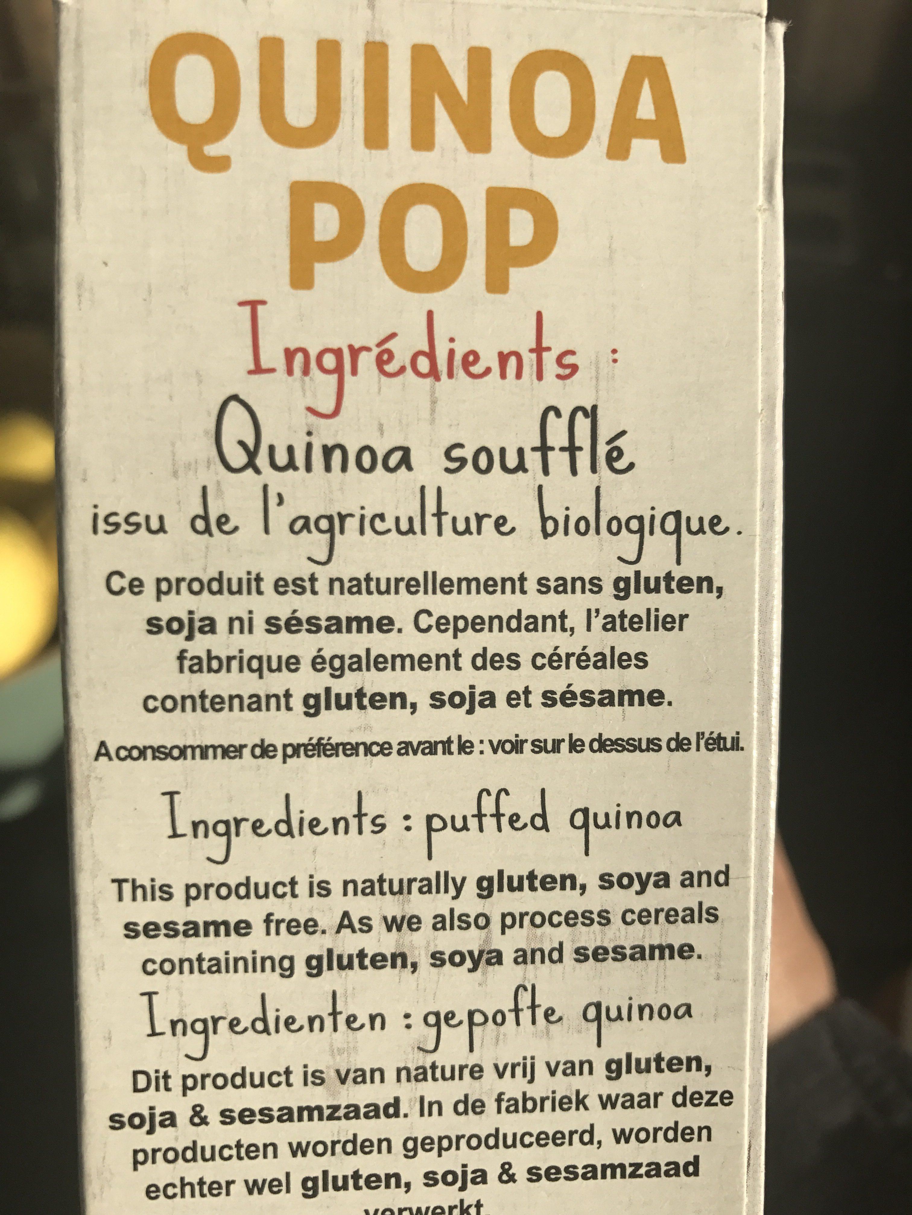 quinoa pop - Ingrediënten